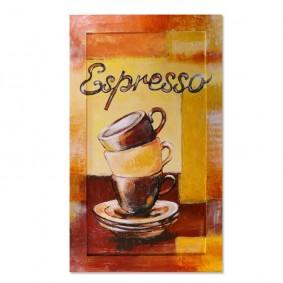 Obraz olejny w ramie do kuchni - Espresso