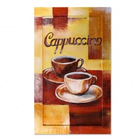 Obraz olejny w ramie do kuchni - Cappucino