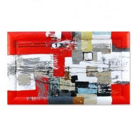 Obraz olejny w ramie abstrakcja G00624
