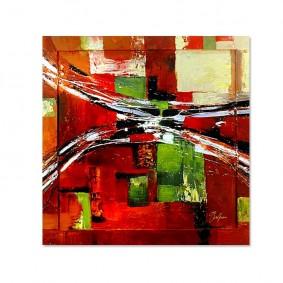 Obraz olejny w ramie abstrakcja G00623