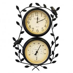 Zegar I Termometr Retro (gałązki i ptaki)