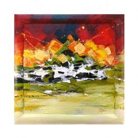 Obraz olejny w ramie abstrakcja G00627