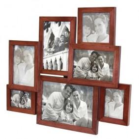 Drewniana rodzinna ramka na zdjęcia 7w1