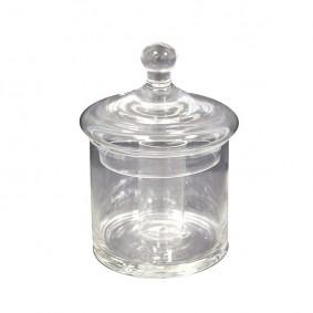 Szklany pojemniczek z przykrywką