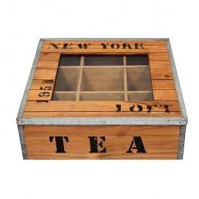 Skrzyneczka na herbatę w loftowym stylu