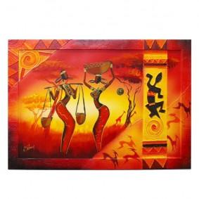 Obraz olejny w ramie Afryka G00836