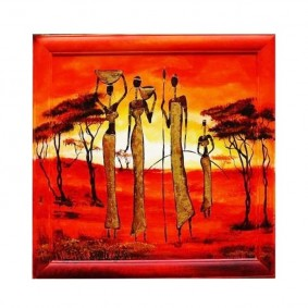 Obraz olejny w ramie Afryka G02770
