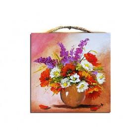Obraz ręcznie malowany bukiet G02104