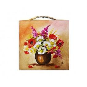 Obraz ręcznie malowany bukiet G02108