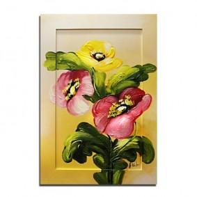 Obraz olejny w ramie kwiaty G02435