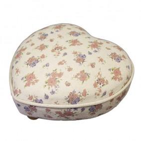 Niski stołek, taboret w prowansalskim stylu