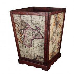 Kosz dekoracyjny - mapa świata