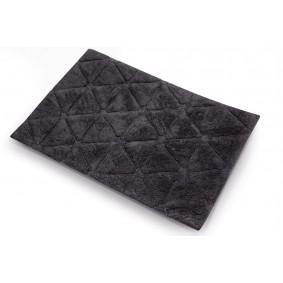TRÓKĄTY - dywanik łazienkowy 50/80cm CZERŃ