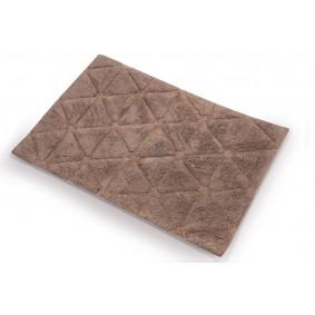 TRÓJKĄTY- dywanik łazienkowy 50/80cm JASNY BRĄZ