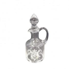 Karafka szklana zdobiona