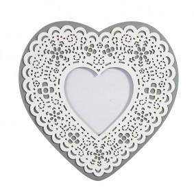 Ramka na zdjęcia koronkowe serce