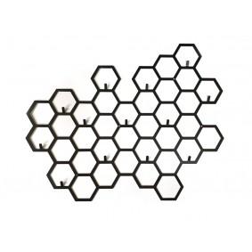 Wieszak dekoracja z heksagonów MIJOO