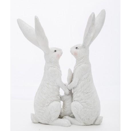 Figurka królików/zająców 24cm